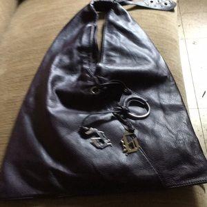Purple Hobo style purse